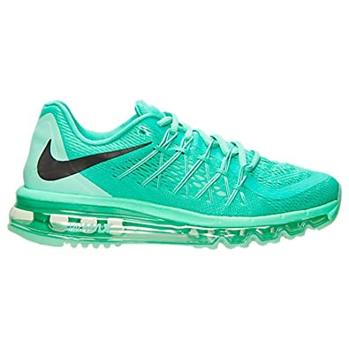 NIKE Women's Air Max 2015 Running Shoes (7.5, MentaBlackGreen Glow)