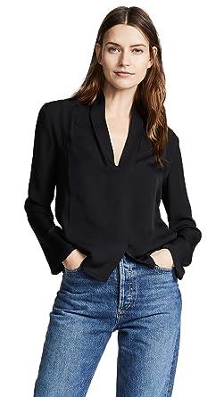17edd266 Amazon.com: Vince Women's Silk Drape Neck Blouse: Clothing