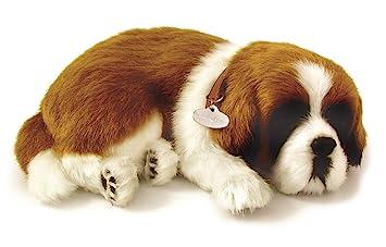 Perfect Petzzz 65419 - Peluche interactivo de perro San Bernardo (25 cm, efecto de