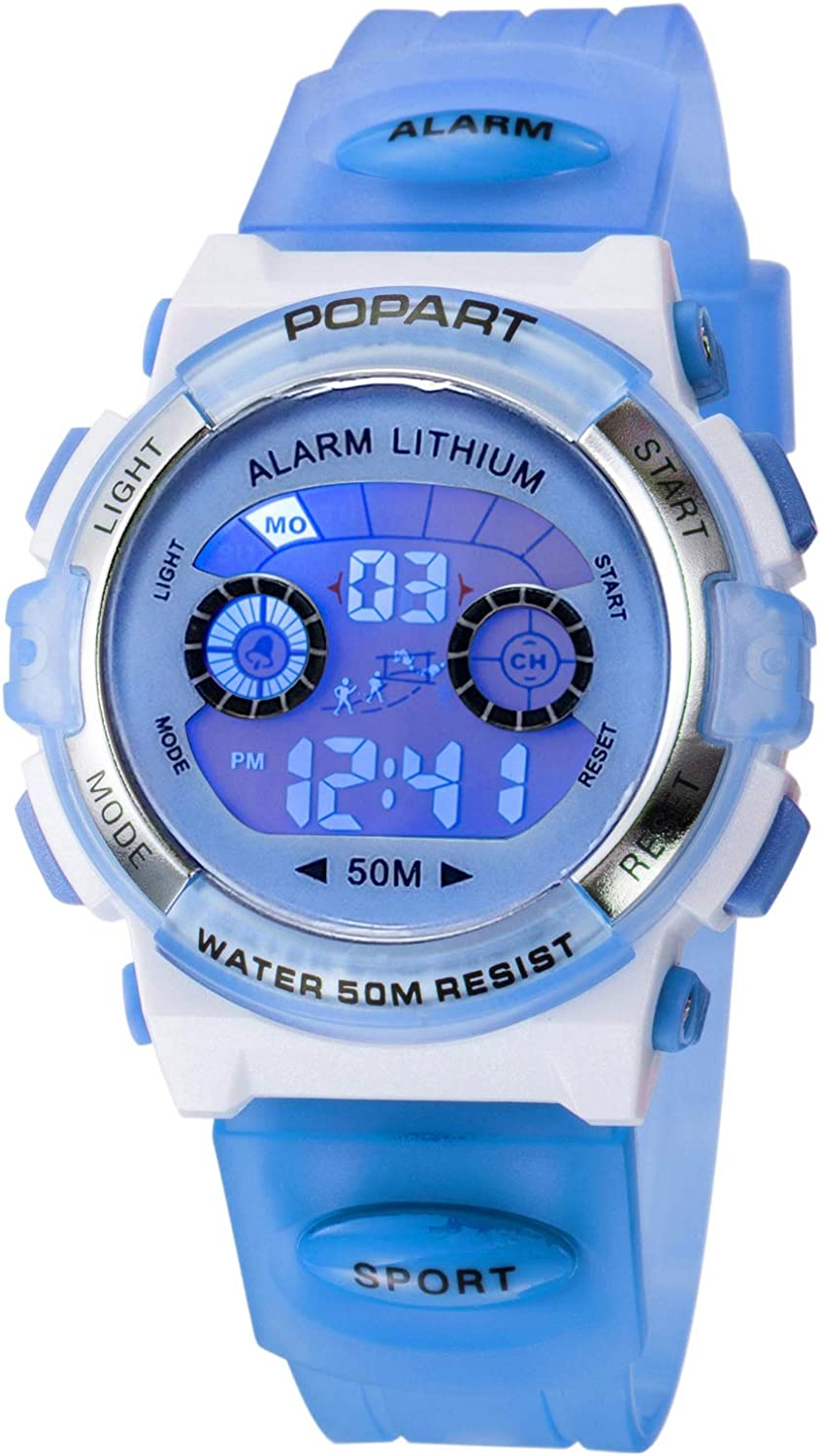 Kid Watch LED Sport 30M Waterproof Multi Function Digital Wristwatch for Boy Girl Children Gift