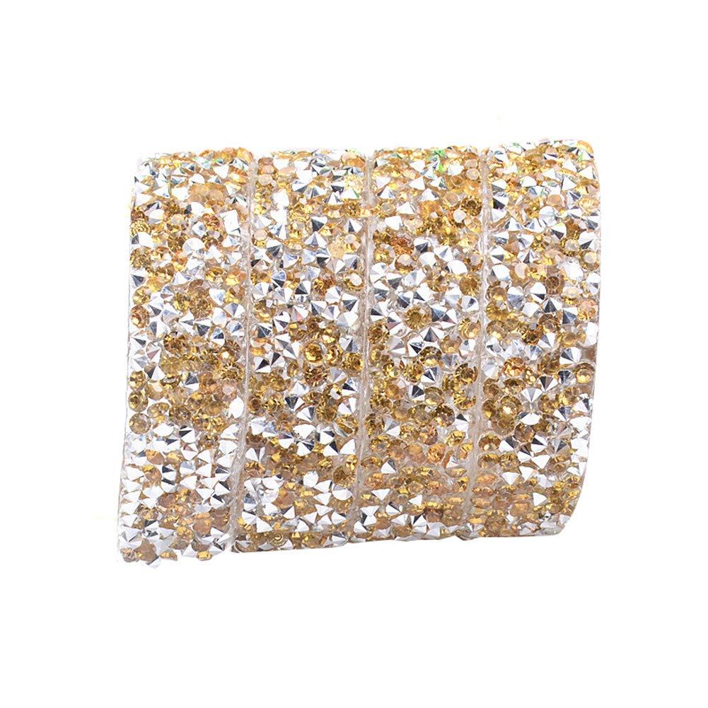 Grigio Domeilleur 1.5/cm in Resina Strass Multifunzionale Nastro Taglio Cintura Scarpe codice a Barre di Nozze Decorazione