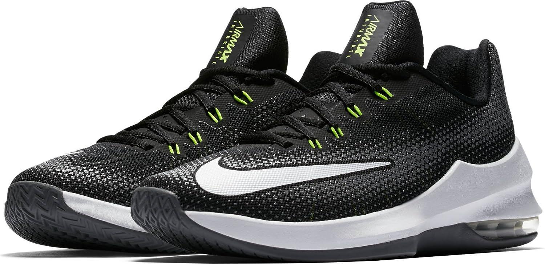 Nike Herren Air Max Infuriate Low Basketballschuhe  39|Schwarz