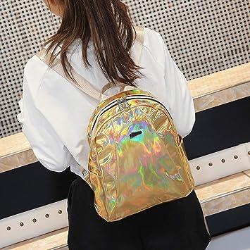 9edab7715f65 Amazon.com   Women Backpack Hologram Leather Purse Bag Shiny Messenger Bags  Daypack Satchel Shoulder Bag for Teens Girls School Work Leisure Banquet  Travel ...