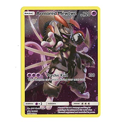 Armored Mewtwo SM228 - Black Star Promo - Exclusive Mewtwo Strikes Back Exclusive - Collectors Chest Holo Card: Toys & Games