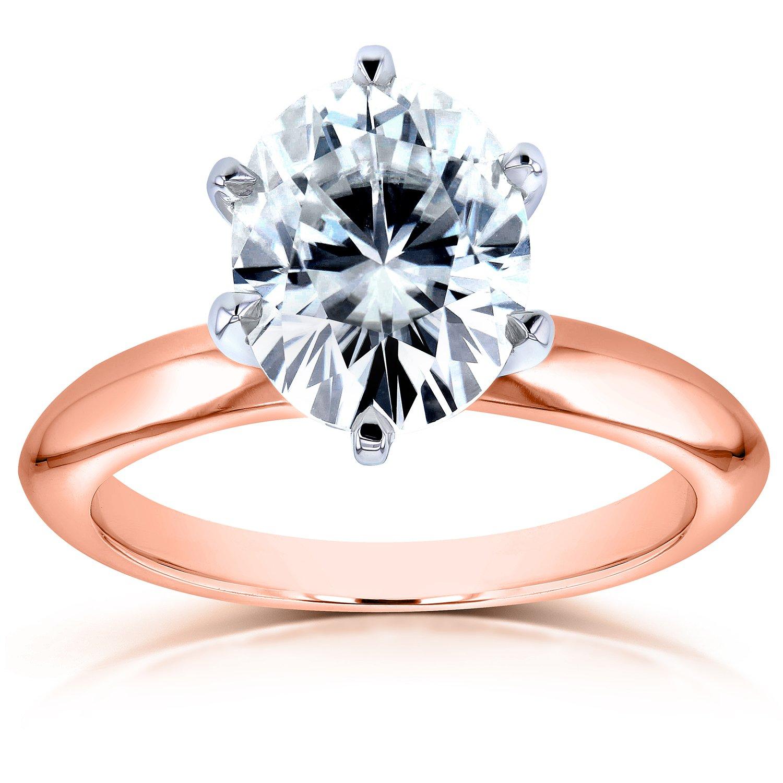Oval Moissanite Solitaire Engagement Ring 2 1 10 Carat 14k Rose Gold ... 810e88c01d6
