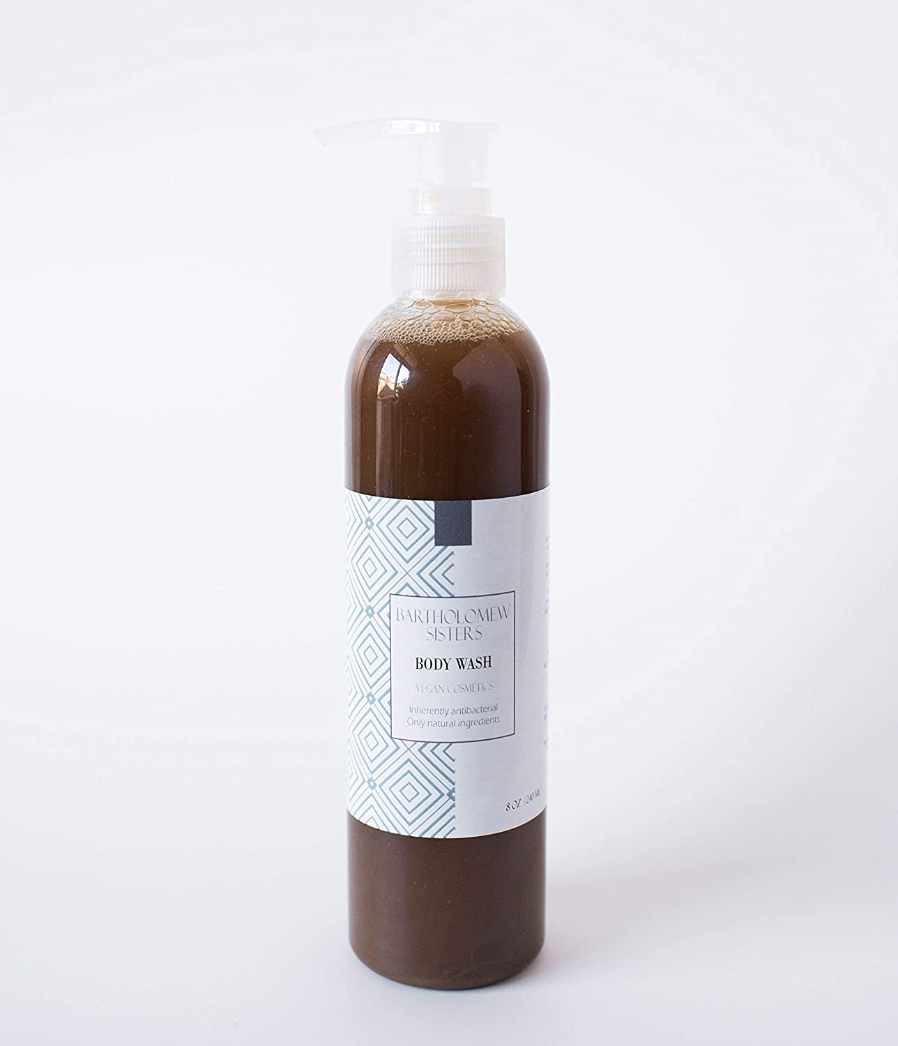 Handmade Natural Vegan Body Wash - Black Soap with Green Tea and Aniseseed Oil, 8 oz