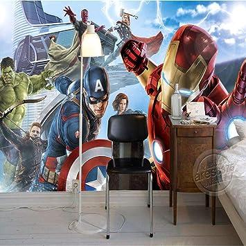 Amazon Com Mural Wallpaper Avengers Boys Bedroom Photo