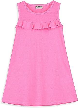 LC WAIKIKI - Vestido de algodón para niña con volantes: Amazon.es: Ropa y accesorios