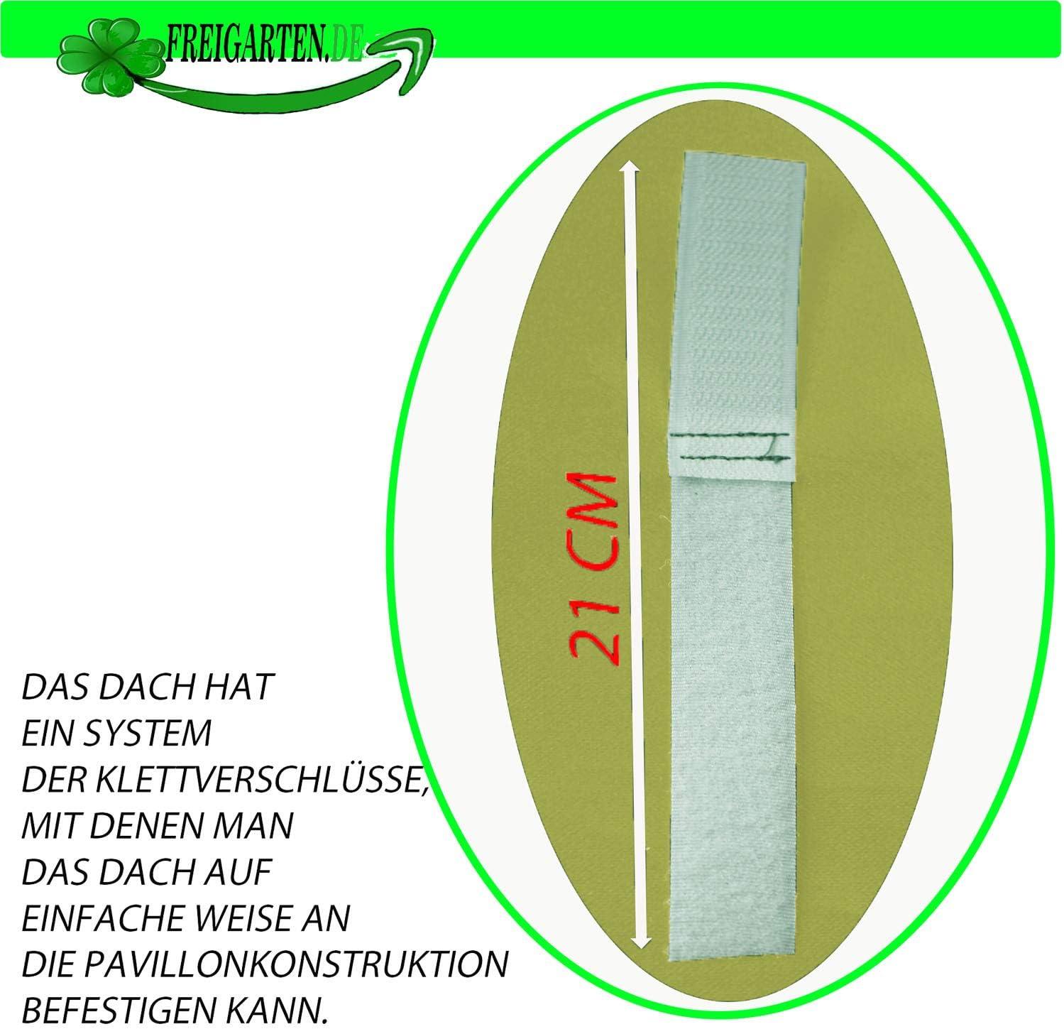Impermeabile Tetto di Ricambio per Gazebo 3 x 3 m Sabbia Frearten.de Materiale: Panama PCV Soft 370 g//m2 Extra Forte Modello 3 Gazebo Antico