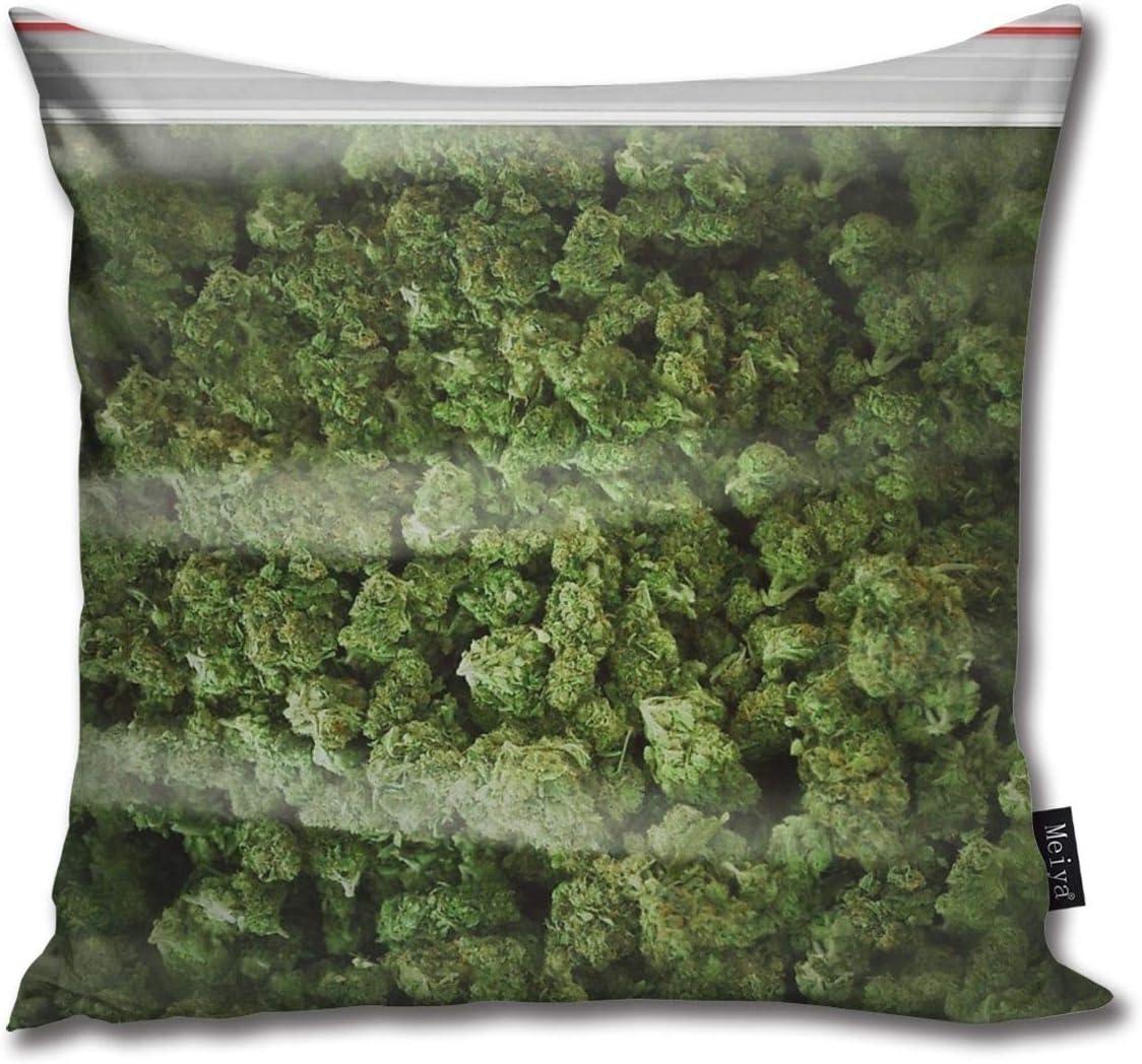 Funda de cojín, una gran bolsa de hierba decorativa para habitación, dormitorio, sofá, silla, coche, 50,8 x 50,8 cm