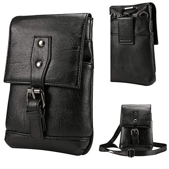5f0872ab8206 Image Unavailable. Image not available for. Color: Belt Fanny Pack  Removable Belt Waist Pouch Fashion Belt Bags Mens Leather Fanny Small  Messenger Shoulder
