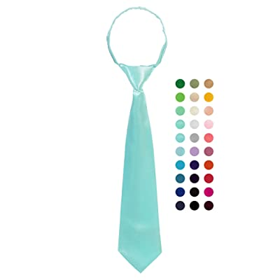 Bello Giovane Boys 100% Handmade Satin Zipper Neck Tie