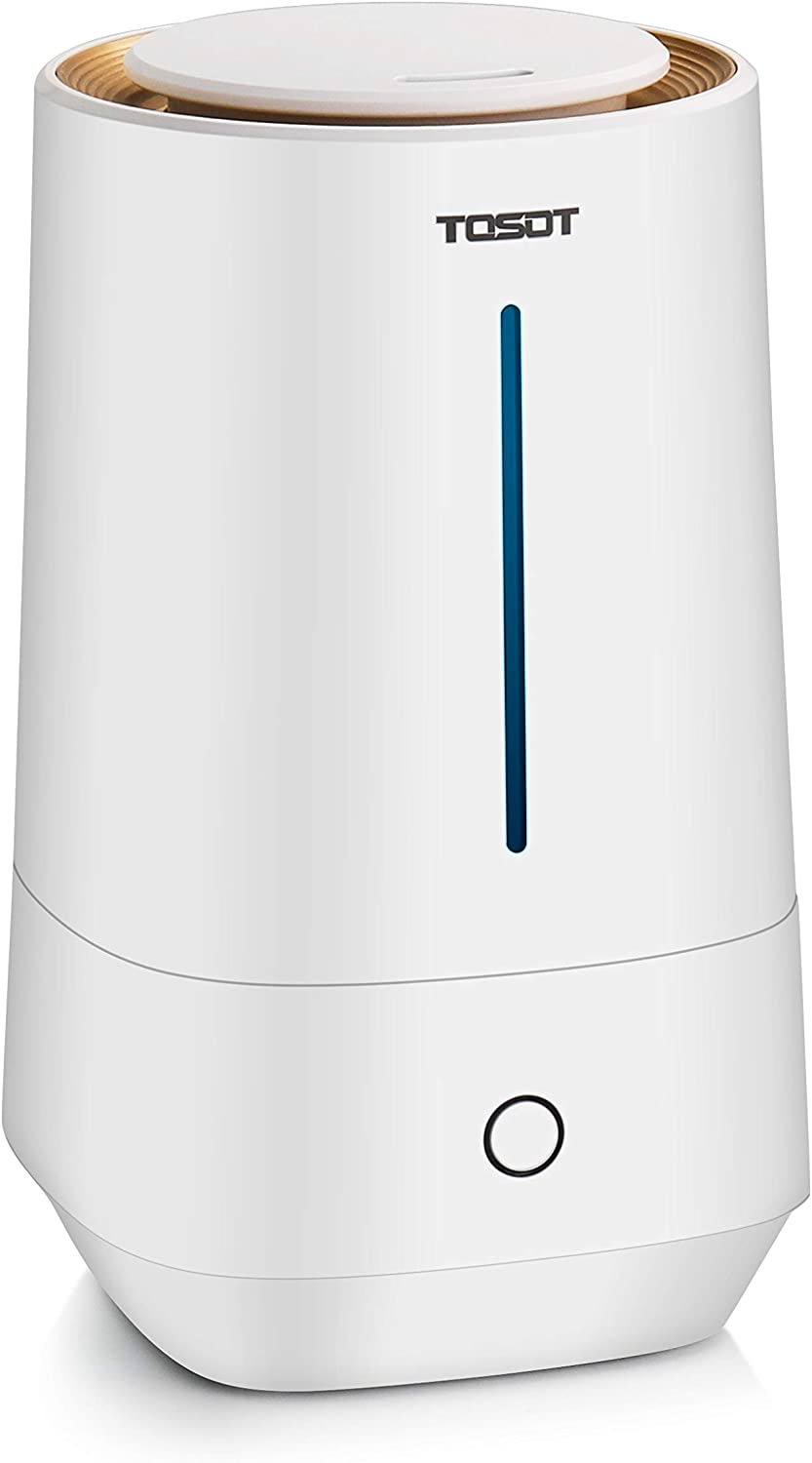 TOSOT Ultrasonic Cool Mist Humidifier, 4L/1.1 Gallon Essential Oil Diffuser, Top-Filling Tank, Micro-Mist Technology, 24-Hour Run Time, Auto Shut-Off, Whisper Quiet - Air Moisturizer for Home, Bedroom