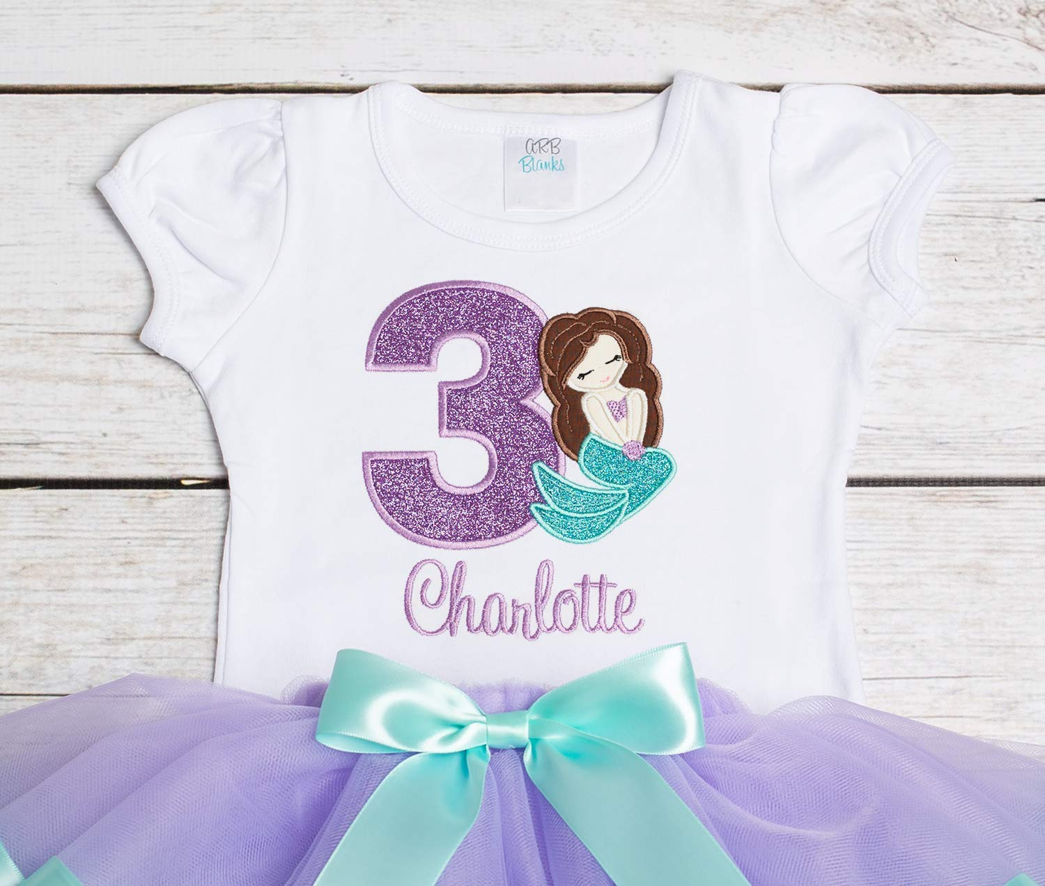 Embroidered Mermaid Outfit 2nd Birthday Outfit Mermaid Birthday Outfit 1st Birthday Outfit 3rd Birthday Outfit