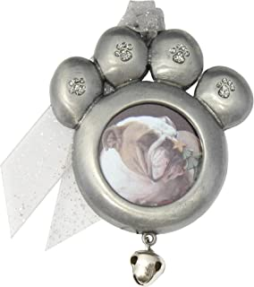 product image for Gloria Duchin Pet Paw Photo Christmas Ornament, Silver
