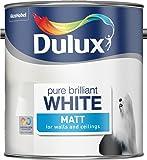 Dulux 5092360 2.5 Litre Pure Brilliant White Paint - Matt by Dulux