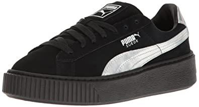 best authentic 73b20 3ba81 PUMA Women's Suede Platform Explos Bwn's Fashion Sneaker