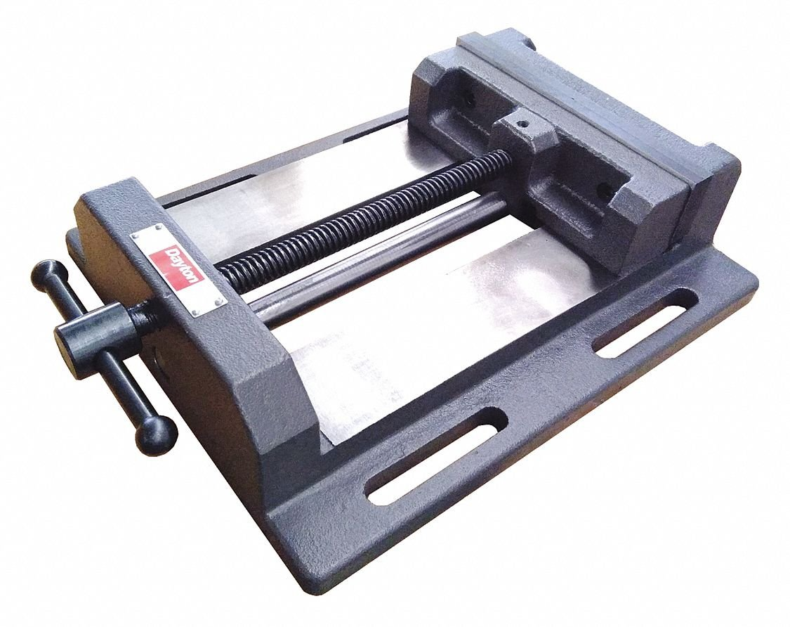 Drill Press Vise,Fixed Base,8 in. Jaw W.