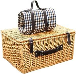 Cesto de mimbre para canasta de picnic para 4 personas ...