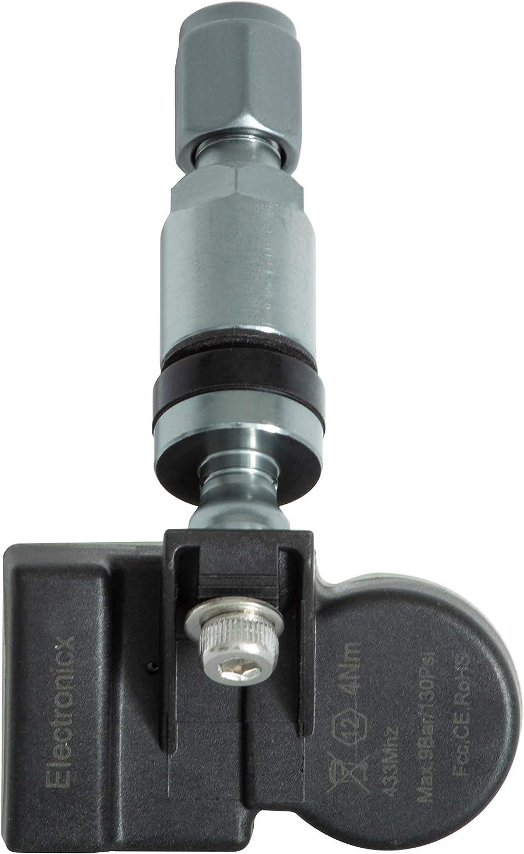 4x RDKS TPMS Reifendrucksensor Reifendruckkontrollsystem Metallventil DarkGrey passend f/ür Evoque LR2 LR3 LR4