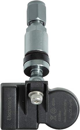 4x RDKS TPMS Reifendrucksensor Reifendruckkontrollsystem Metallventil DarkGrey passend f/ür Auris Avensis 4260702031