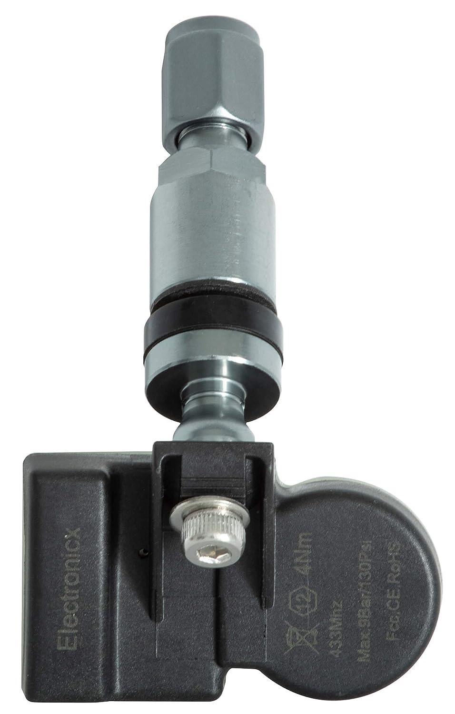 4x RDKS TPMS Reifendrucksensor Reifendruckkontrollsystem Metallventil DarkGrey passend f/ür A6 A8 RS6 RS6 Plus Phaeton Touareg