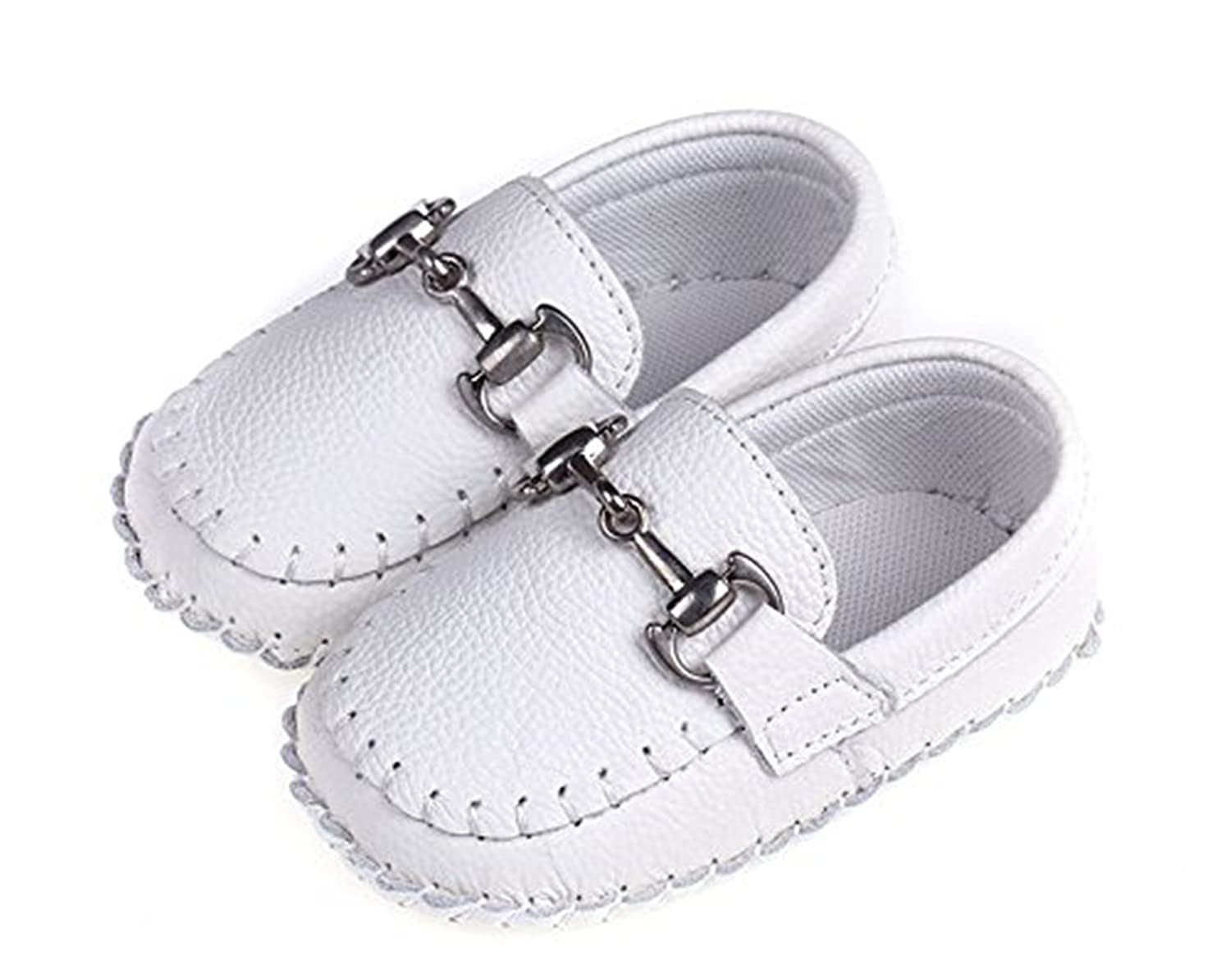 Fordbox Toddler Babys Genuine Leather Loafers Soft Sole Boat Shoe