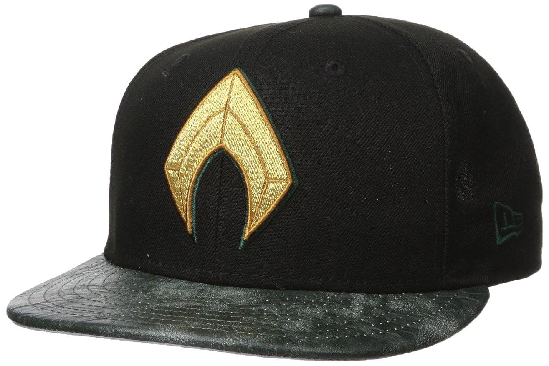 New Era Cap Mens Justice League Aquaman 9FIFTY Snapback Cap, tan, One Size at Amazon Mens Clothing store:
