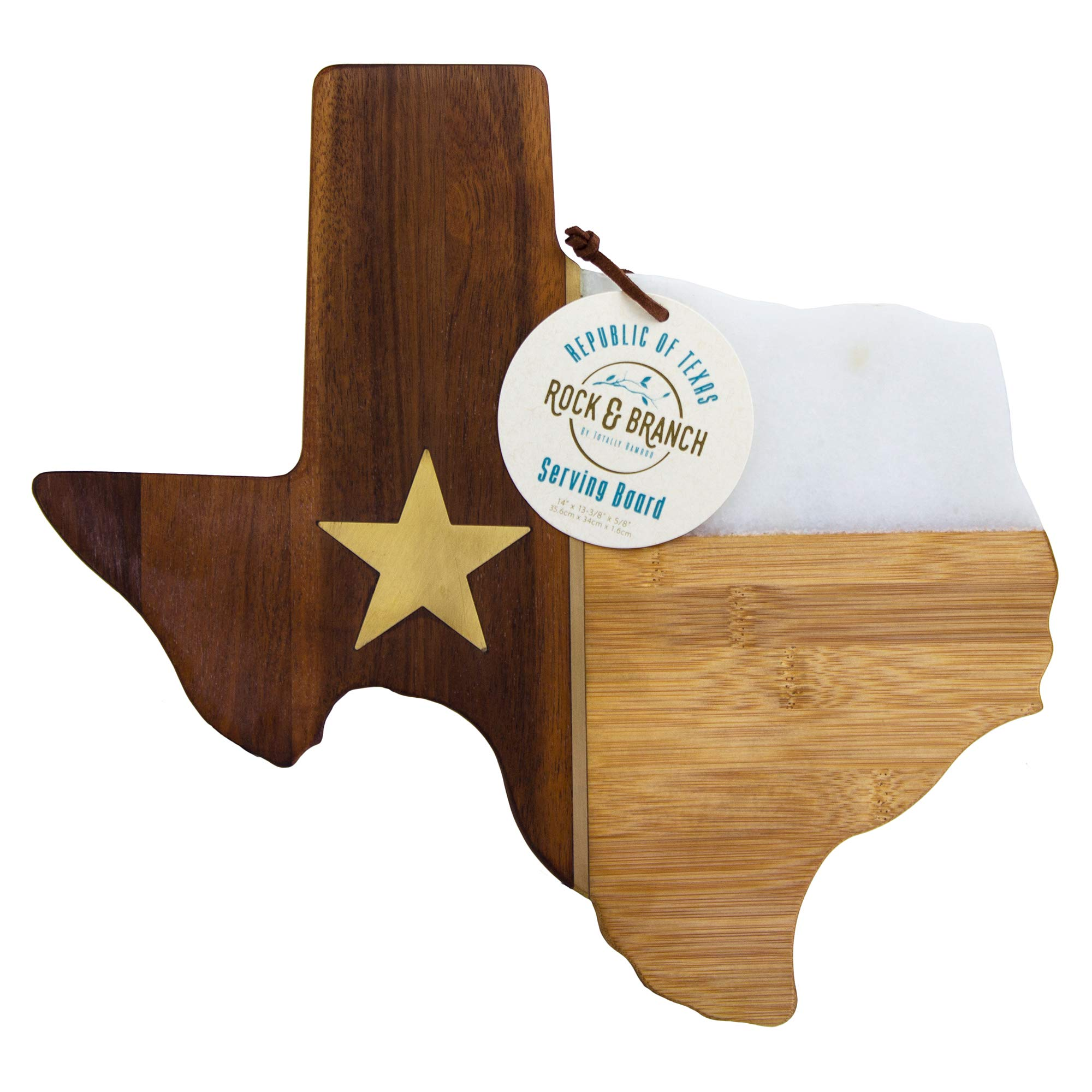 Totally Bamboo Rock & Branch Series Republic of Texas State Shaped Serving Board by Totally Bamboo (Image #2)
