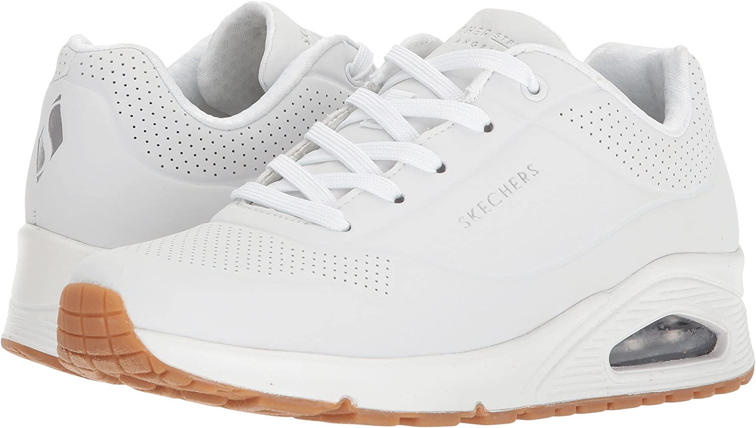 Amazon Com Skechers Women S Street Uno Stand On Air Sneaker Fashion Sneakers