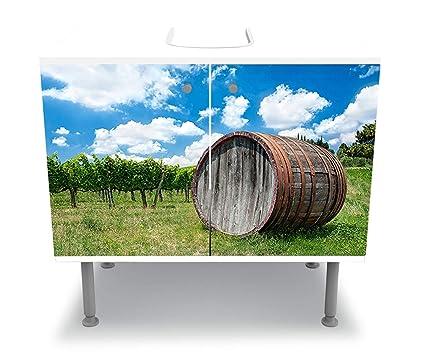 Wandmotiv24 Armoire De Toilette Baril De Vin En Toscane