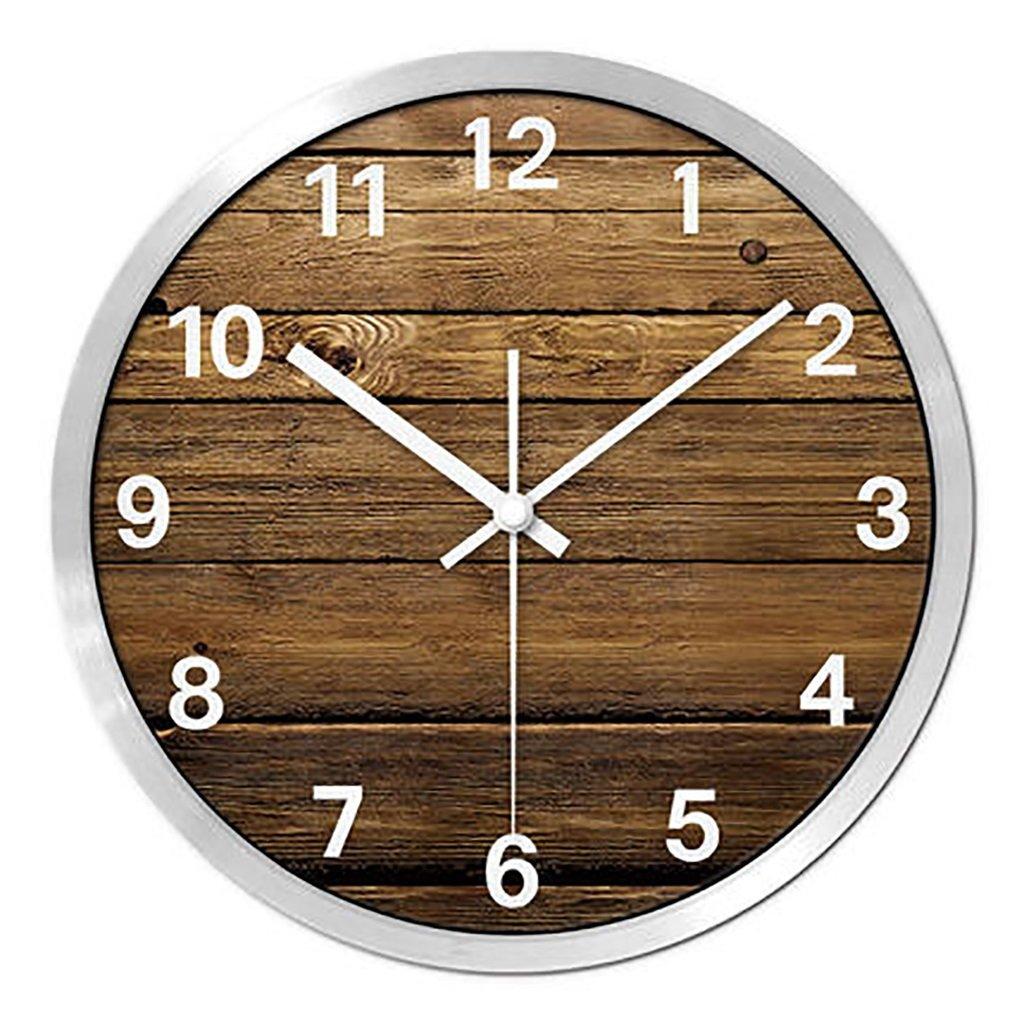 リビングルームクリエイティブ現代のクォーツ時計のベッドルーム静かなパーソナライズされたシンプルなファッションウォールクロック (色 : 3, サイズ さいず : L l) B07FP41XGL3 L l