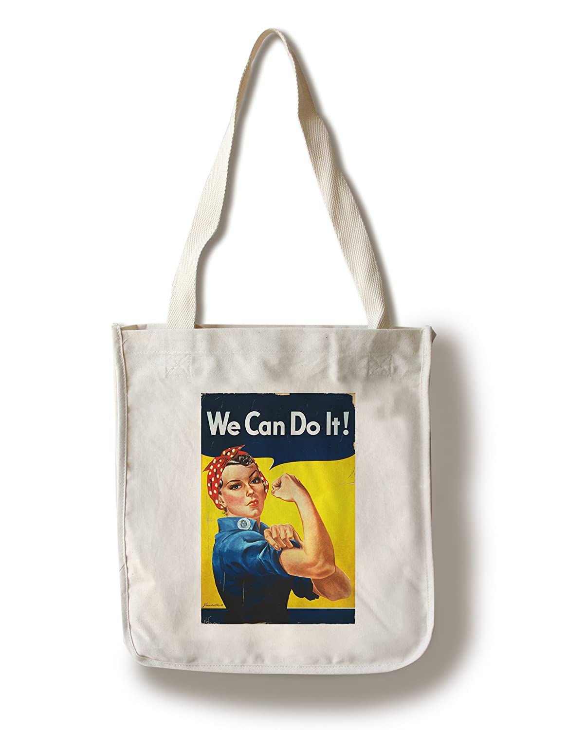 Rosie the Riveter – We Can Do It 。 – ポスター( 100 %コットントートバッグ – 再利用可能な、まち、Made in America ) B01BOL7TZ2