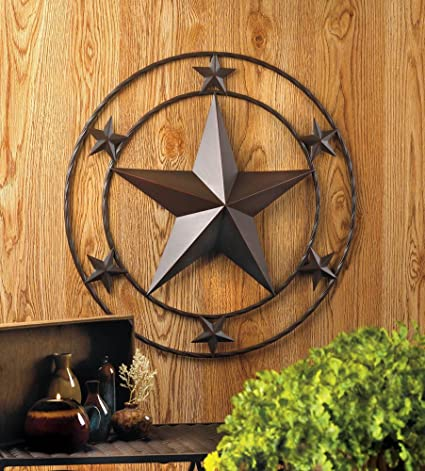 Amazon 24 Texas Lone Star Metal Wall Art Rustic Cowboy Country Western Decor Home Kitchen
