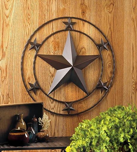 Smart Living Company 24 Texas Lone Star Metal Wall Art Rustic Cowboy Country Western Decor