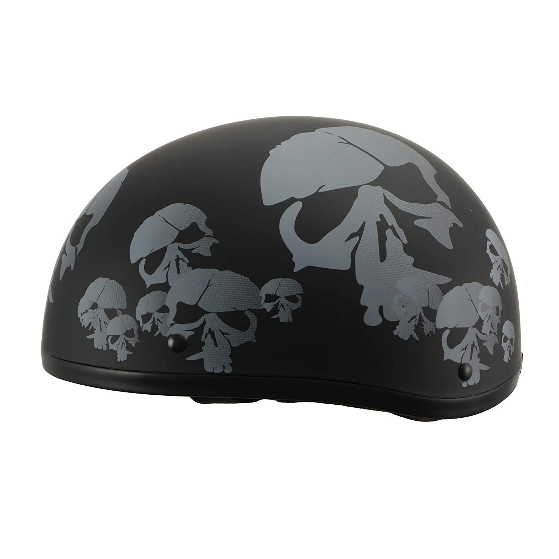 Milwaukee Performance Helmets Mens Size half helmet MAT BLACK XL