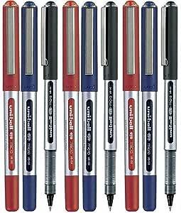 Uni Ball UB-150 Colores Surtidos (9 Pack) Ojo Micro Bolígrafo 0.5mm (3 Of Cada Color - Rojo Negro Azul - 9 Bolígrafos): Amazon.es: Oficina y papelería