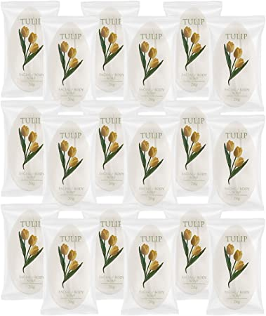 TULIP 204 Count Travel Spa Facial Body Soap 0.7 Ounce Hotel Size in Bulk Individually Wrapped Scented with A Fresh Fragrance