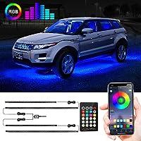 Car Underglow Lights, Under Car Led Lights 16 Million Colors Neon Accent Lights Kit,Car Led Strip Lights Sync to Music…