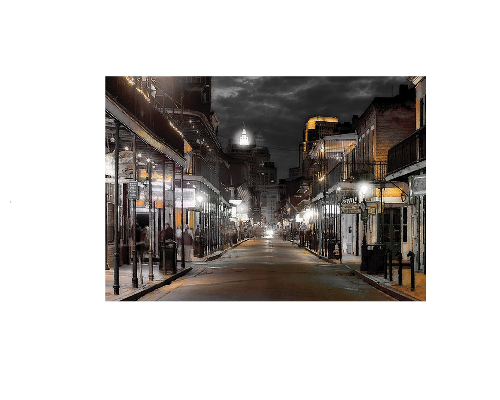Ohio Wholesale Everyday Collection Radiance Lighted Bourbon Street Canvas Wall Art