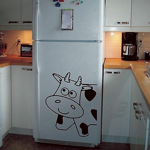 Vaca frigorífico congelador vaca Moo Vaca vinilo pared arte ...