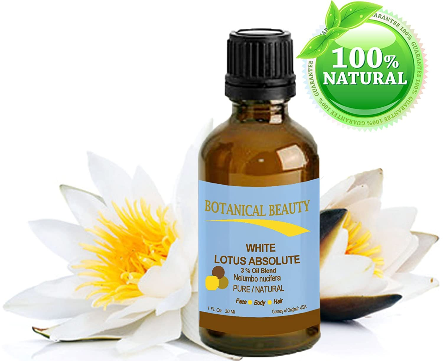 Amazon White Lotus Absolute Pure Natural 3 Oil Blend 1 Fl