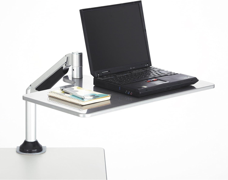 Safco Products 2132SL Desktop Sit/Stand Workstation for Laptop, Silver