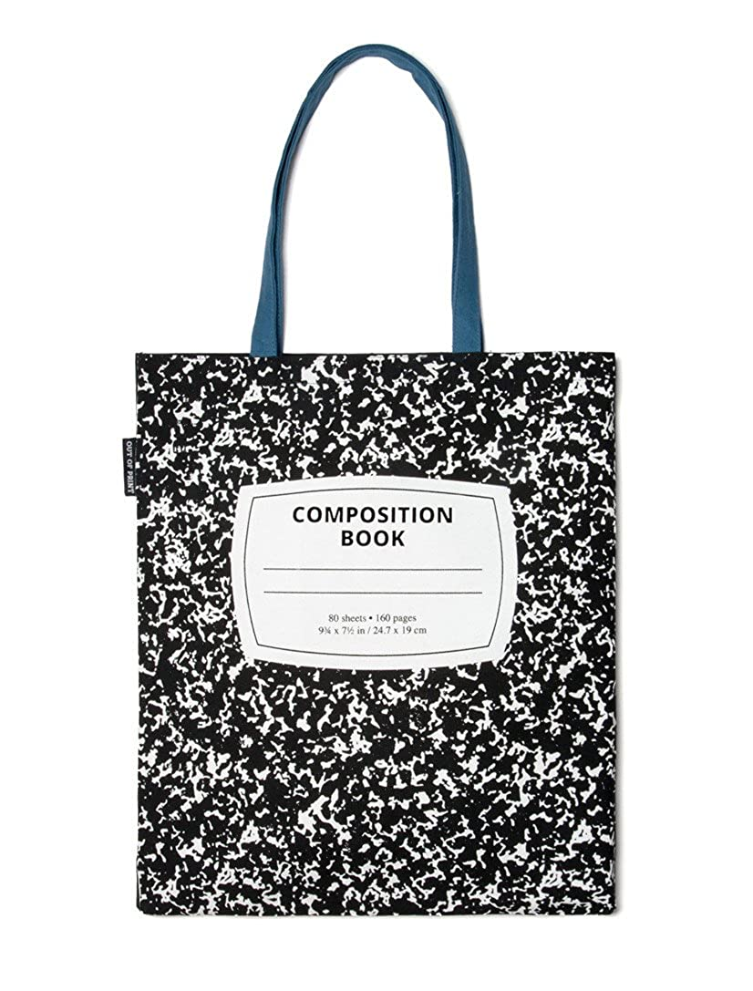 14bf70e9585e Amazon.com  Out of Print Composition Notebook Tote Bag