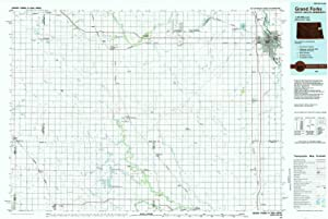 YellowMaps Grand Forks ND topo map, 1:100000 Scale, 30 X 60 Minute, Historical, 1985, Updated 1985, 24.1 x 36 in