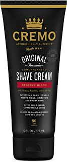 product image for Cremo Barber Grade Reserve Blend Shave Cream for Cuts and Razor Burn, 6 Fl Oz