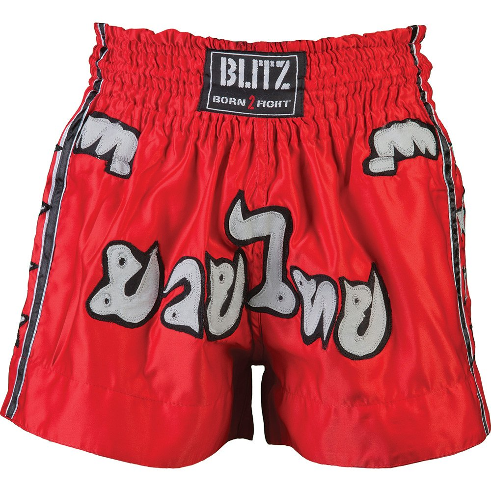 BLITZ KICKBOXING THAI FIGHT SHORTS KIDS BOYS GIRLS RED SIZE 140 CM 9 - 11 YEARS