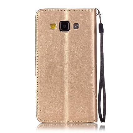 Lotuslnn Samsung Galaxy A5 2015 Funda, diamantes de imitación de cristal Flip Wallet Case Samsung Galaxy A5 2015 Cases and Cover -(Funda+ Stylus ...