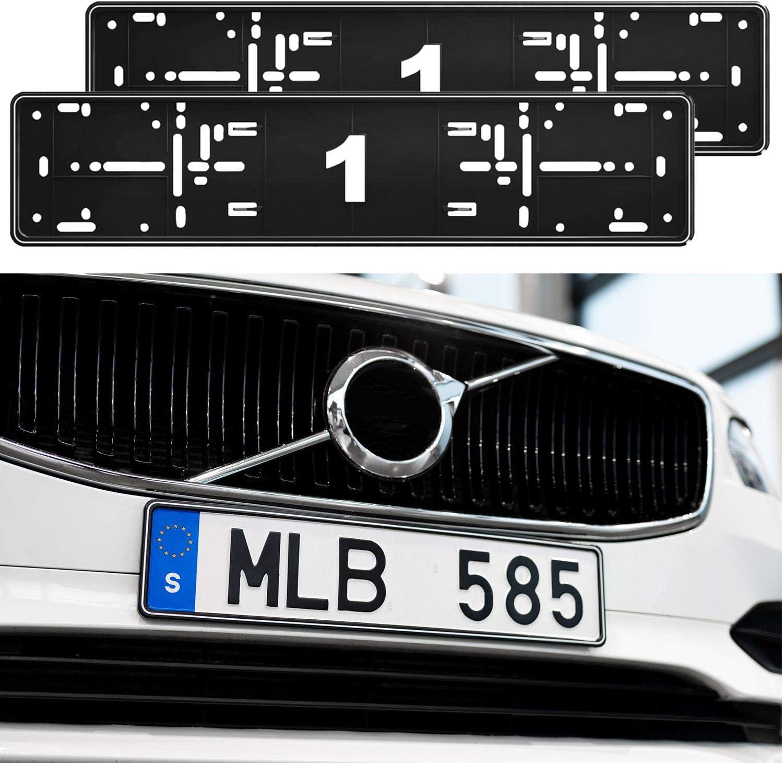 2X Original ALTI Giri Premium Kennzeichenhalter Rahmen Halter in Wei/ß passend f/ür alle Fahrzeuge