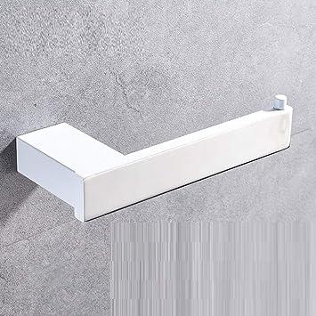 LyMei Portapapel, Estante de Toalla de Acero Inoxidable Blanco - - Porta Papel higiénico de baño - Portapapel de Papel para baño, Inodoro: Amazon.es: Hogar